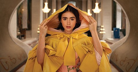 Lily Collins stars as a bushy-browed Snow White in Tarsem Singh's visuals-over-substance rendering of the Grimms' tale, <em>Mirror Mirror</em>.