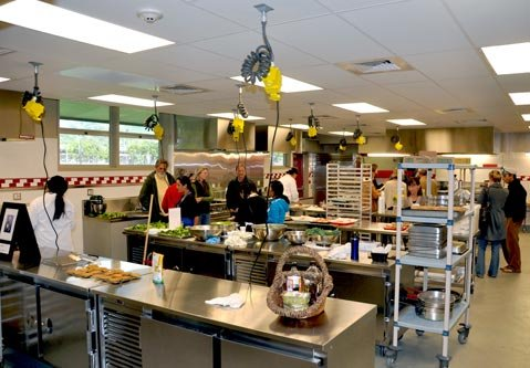 The new professional teaching kitchen at Carpinteria High School's Culinary Arts Institute.
