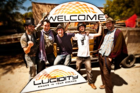 Co-Founder's Alan Avila, Jonah Haas, Luke Holden, Satory Palmer, and Andrew Garrard (left to right) welcome you to Lucidity to awake in your dreams!