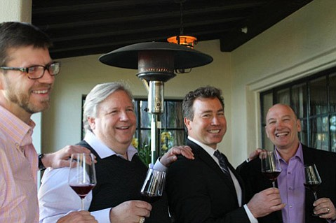 The four pinot noir specialists behind the Four Seasons Maui's June event are, from left, Web Marquez, Anthill Farms; Donald Patz, Patz & Hall; Steve Clifton, Brewer-Clifton; and Gary Burk, Costa de Oro.