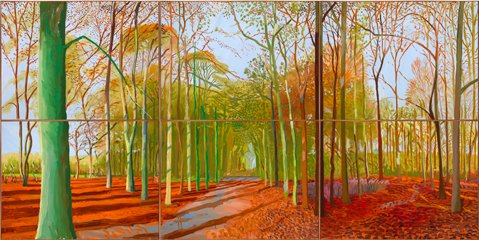 "David Hockney's ""Woldgate Woods."""