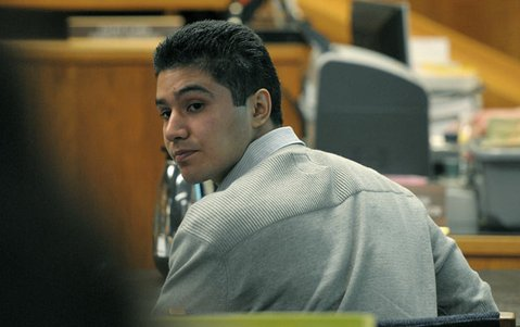 Benjamin Vargas during the first week of his murder trial (April 9, 2012)
