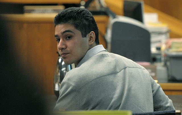 Benjamin Vargas during the first week of his murder trial (April 9, 2012)