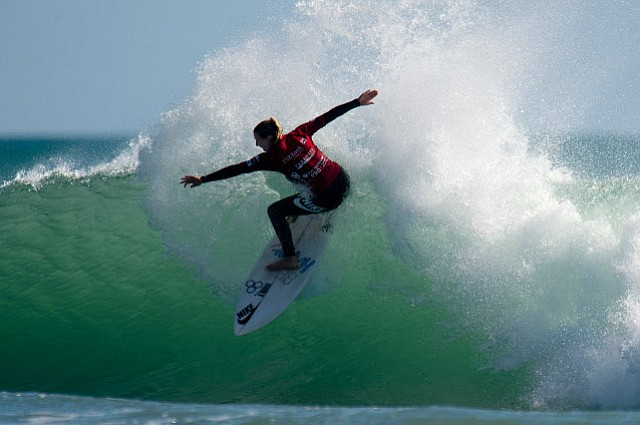 Lakey Peterson placed 3rd in the TSB Bank New Zealand Surf Festival in Taranaki