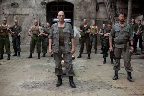 Front and center, Ralph Fiennes directs and stars in an updated <em>Coriolanus</em> shot in the Balkans.