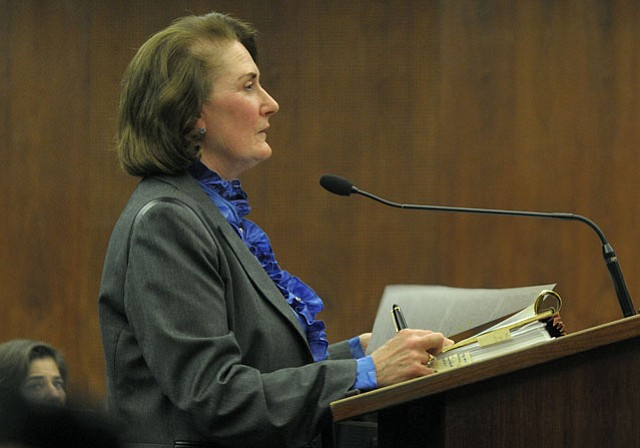 """""""Tim Doheny wanted to do the right thing for his ranch and his family,"""" explained the Doheny's attorney Susan Petrovich (above) to the Board of Supervisors on Tuesday, adding, """"There are no immediate plans to build anything new. That ranch will remain as it is as far as the Doheny's are concerned."""""""