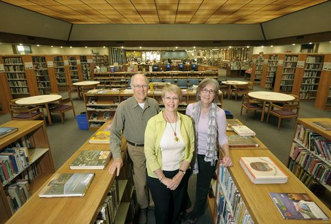 Friends of the Goleta Valley Library, from left to right: Doug Buckmaster, member; Corinne Horowitz, president; and Mahela Morrow-Jones, spokesperson