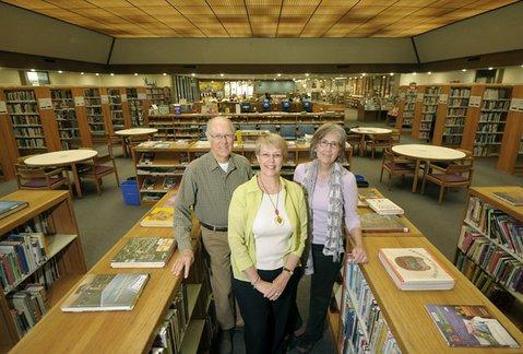 Friends of the Goleta Valley Library, from left to right: Doug Buckmaster, member; Corinne Horowitz, president; and Mahela Morrow-Jones, spokesperson