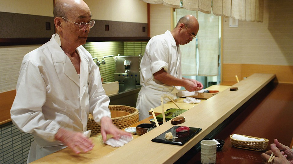 Acclaimed sushi chef Jiro Ono is profiled in <em>Jiro Dreams of Sushi</em>.