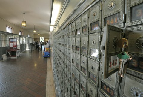Inside Santa Barbara's main downtown post office