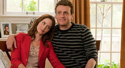 Violet (Emily Blunt) and Tom (Jason Segal) mosey toward marriage in <em>The Five-Year Engagement</em>.