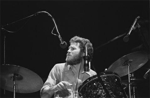 Levon Helm at the Santa Cruz Civic Auditorium in 1976