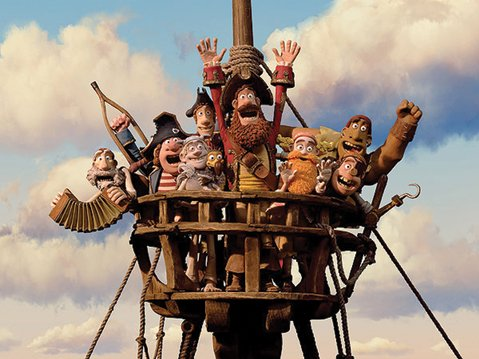 Pirates pursue a Pirate of the Year award for their captain, among other adventures, in Aardman Animations' <em>The Pirates! Band of Misfits</em>.