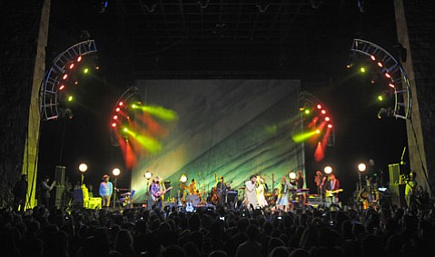 Edward Sharpe & The Magnetic Zeros at the Santa Barbara Bowl