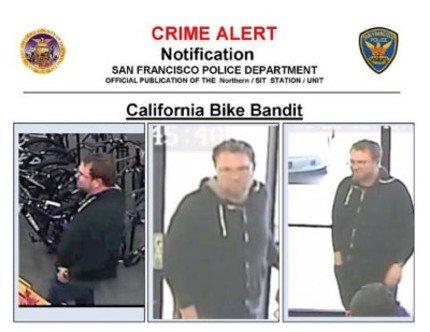 California Bike Bandit caught on surveillance camera