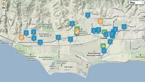 A map from ProjectGoleta.com