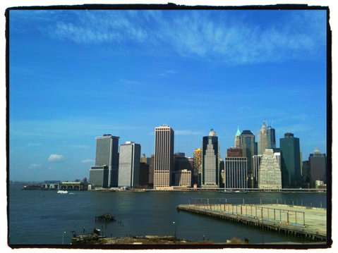A view of the tip of Manhattan from Brooklyn Heights.