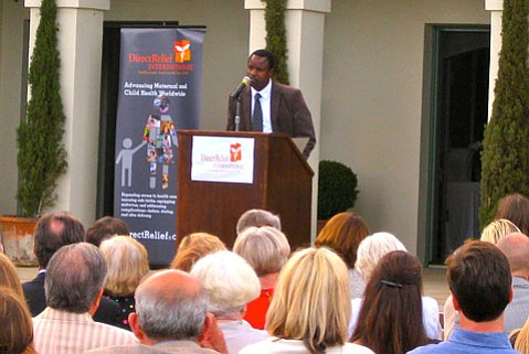 Dr. Hillary Mabeya speaks during Direct Relief fundraiser