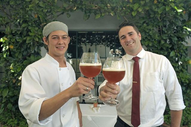 Wine Cask Sous Chef Nikolas Ramirez (left) and Wine Director Branden Bidwell