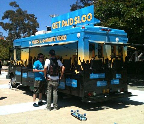 10 Billion Lives Tour van stops at UCSB last Thursday