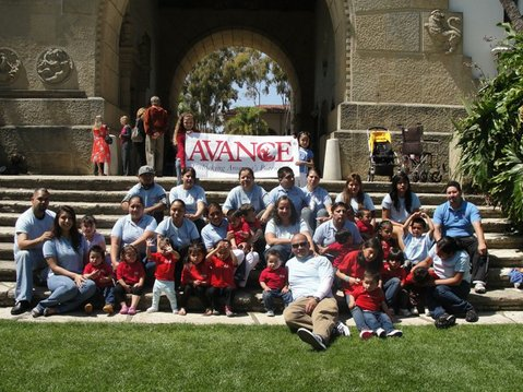 2nd AVANCE Graduating Class of 2012 during picture day at the Santa Barbara County Courthouse