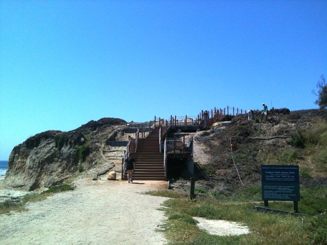 UCSB's new Campus Point Stairway