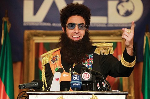 More Kaufman than Chaplin, Sacha Baron Cohen commits to his role as a despot to deliver some biting and unabashedly off-color satire in <em>The Dictator</em>.
