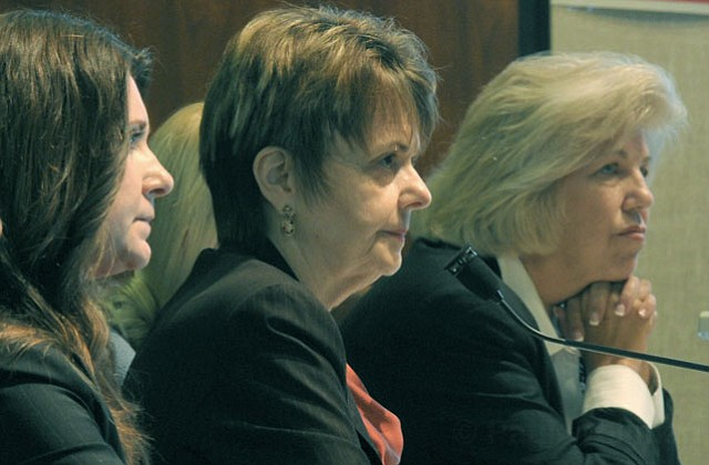 ADMHS Director Dr. Ann Detrick (center)