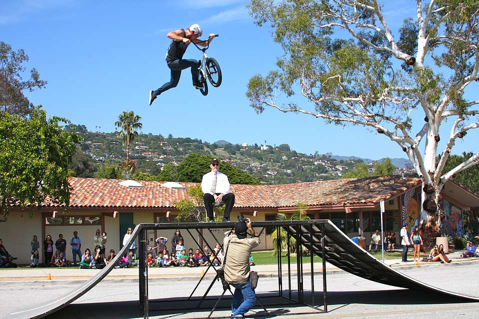 That's Santa Barbara Independent photographer Paul Wellman in the shot, with Mr. Hodges, and rider Kris Fox.