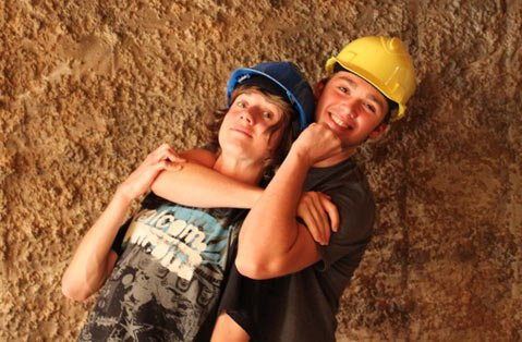 Cameron Allen Randolph and Sam Steady play a couple of troublesome teens who disable a mine elevator in <em>Wabi Sabi Underground</em>.