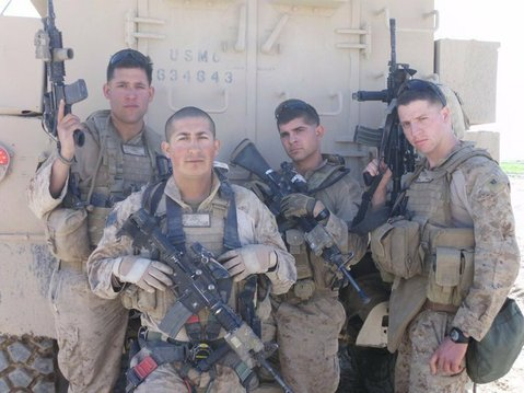 Lance Corporal Eddie Mesa, second from left