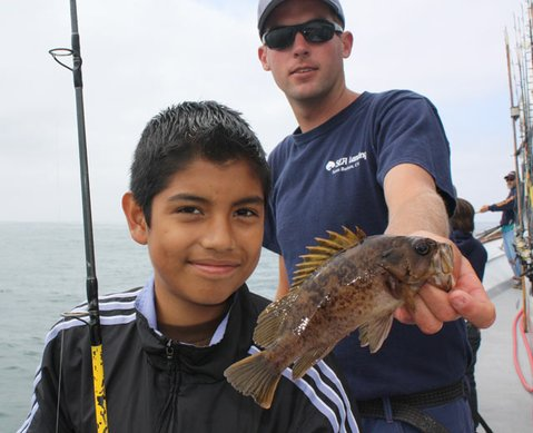 "Participants of ""The Sanctuary Classic"" fish at the Channel Islands"