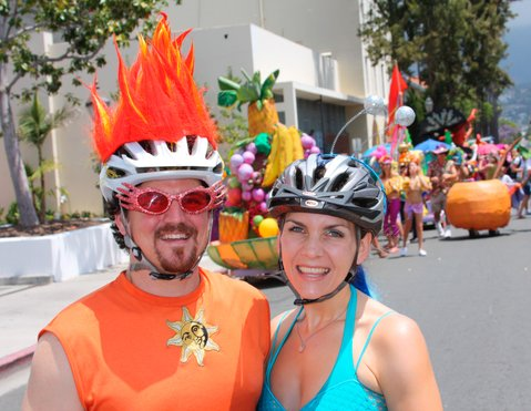 Jim Heaton and Brittany Odermann of Santa Barbara Pedicab