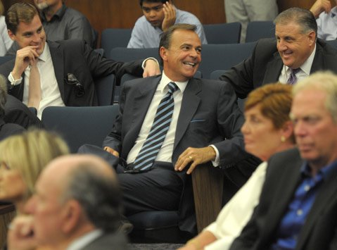 Rick Caruso (center)