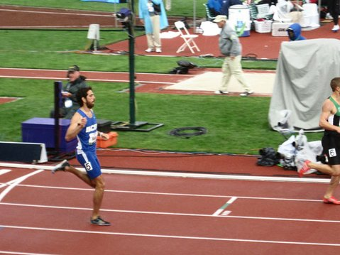 UCSB grad Ryan Martin (pictured qualifying for the 800-meter finals) came up one spot shy of making the Olympic team on Monday.