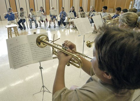 <b>MOURNFUL MELODY?</b>  A large portion of the existing elementary-school parcel tax, Measure I, pays for music equipment and instruction that, without an extension, will likely get cut.