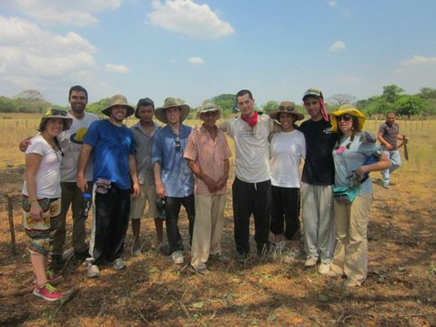 Some of the group with Don Israel (sixth from left).