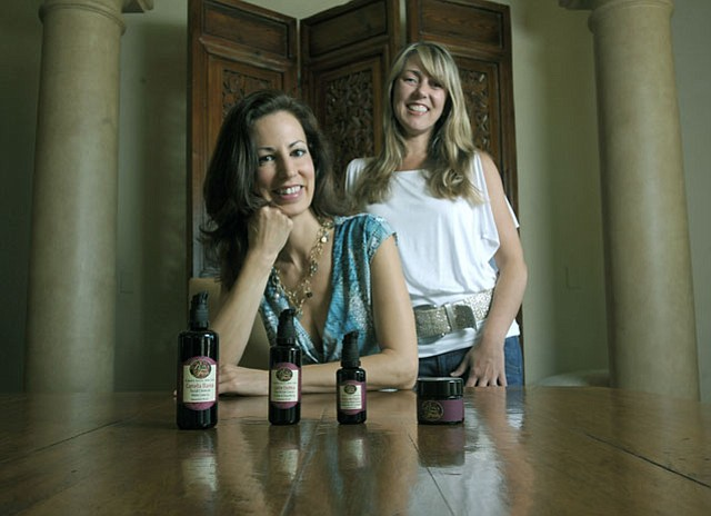 Rosa y Fruta founder Elizabeth O'Rourke (left) and her business partner Tobey Terry have created a four-product skincare line that is everything your face needs to look good.