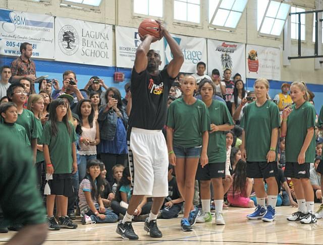 Kobe Bryant at Boys & Girls Club.