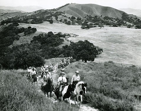 Los Rancheros Visitadores on one of their annual treks through the Santa Ynez Valley.