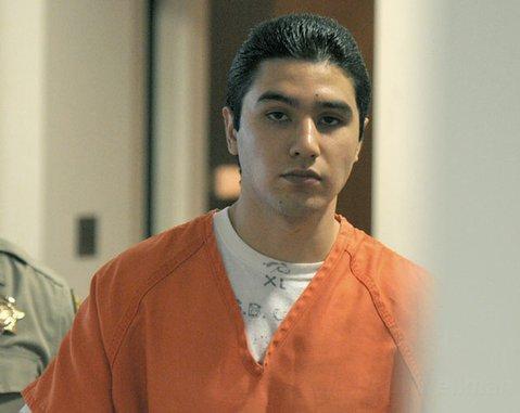 Benjamin Vargas leaves his sentencing hearing (July 16, 2012)