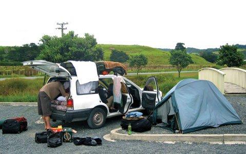 Car camping, New Zealand