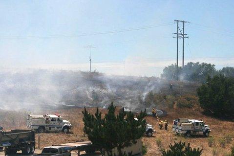 San Marcos Road fire