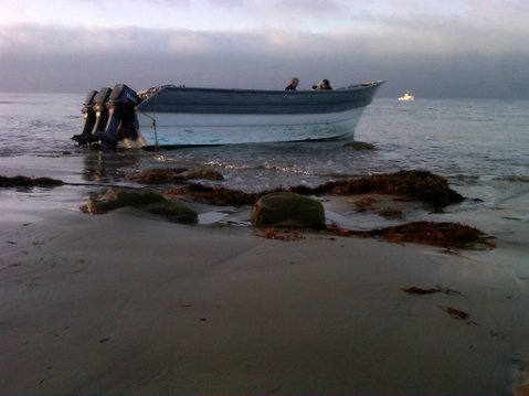 Panga boat discovered Thursday morning on the Gaviota Coast