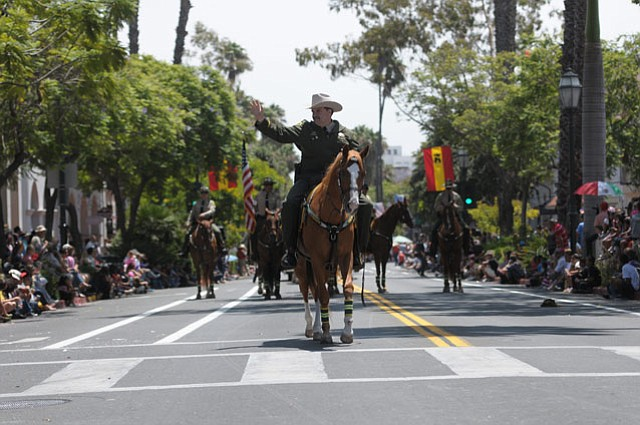 Sheriff Bill Brown in the Equestrian Parade, 2011.