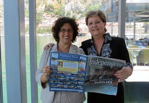 Mayor Helene Schneider and Marija Maja C´atovic´