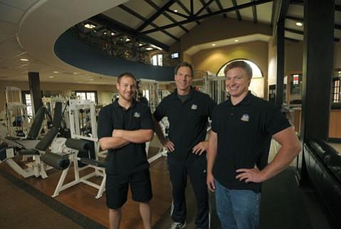 From left:  Ian, Tony, and Connor Calhoun of AC4.