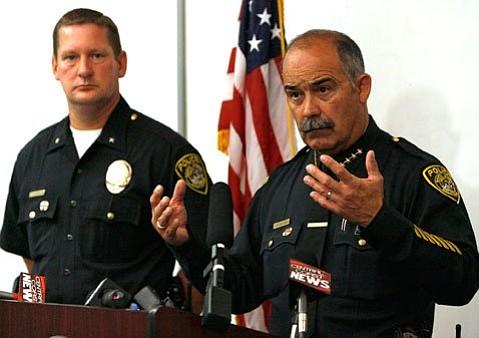 Santa Maria Police Chief Danny Macagni (right)