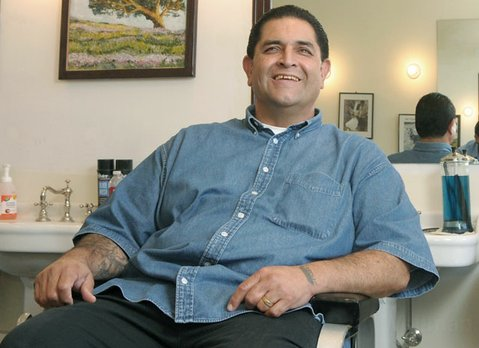 Matt Sanchez in his Montecito Barber Shop (2010)