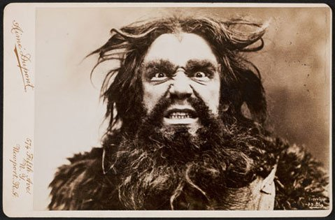 Photo taken in 1896 of the great American baritone David Bispham, in costume as the dwarf Alberich from Richard Wagner's Ring Cycle.